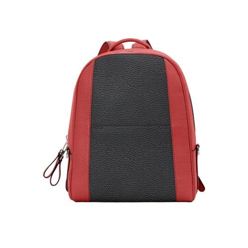 バックパック - Black-Red - Granulated Leather