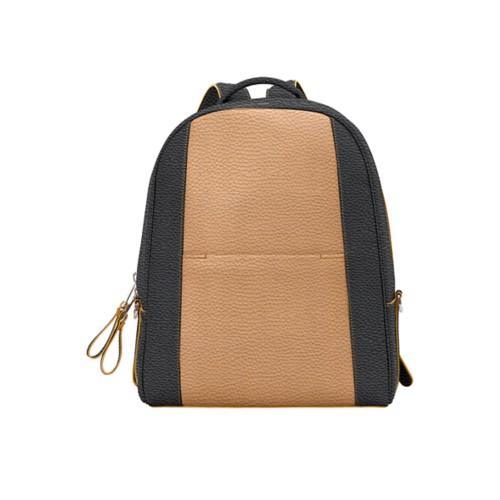 バックパック - Natural-Black - Granulated Leather