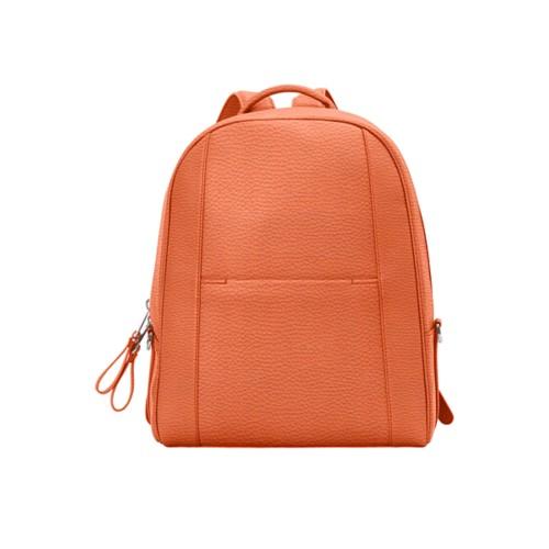 バックパック - Orange - Granulated Leather