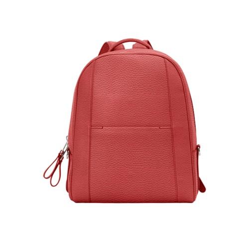 バックパック - Red - Granulated Leather