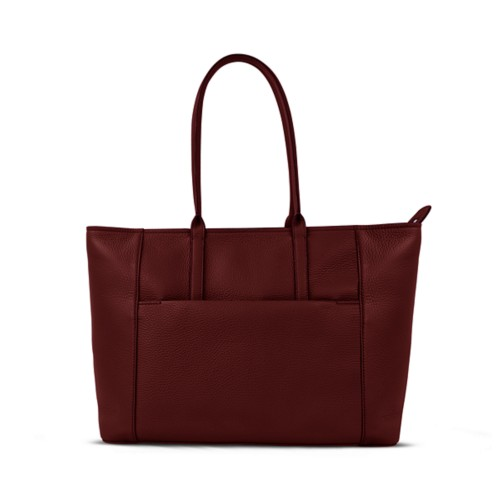 Tote - Burgundy - Granulated Leather