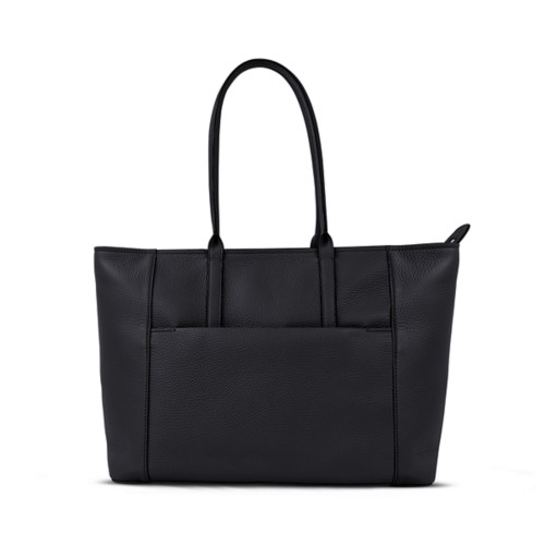 Tote - Black - Granulated Leather
