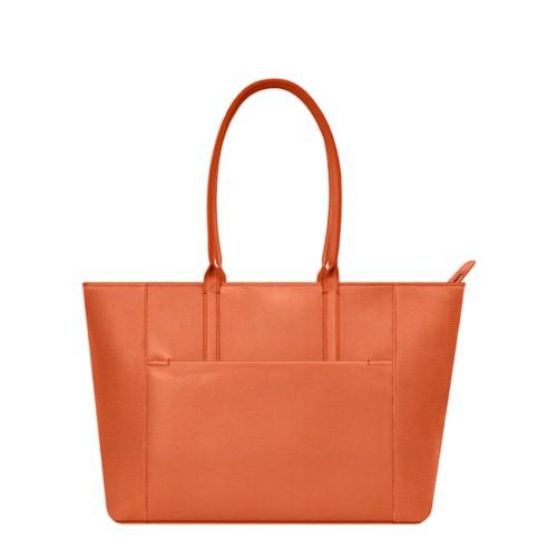 Tote - Orange - Granulated Leather