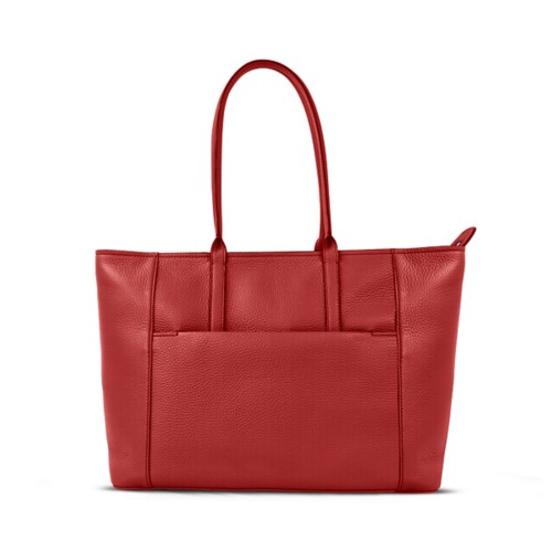 Tote - Red - Granulated Leather