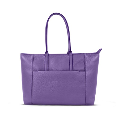 Tote - Lavender - Granulated Leather