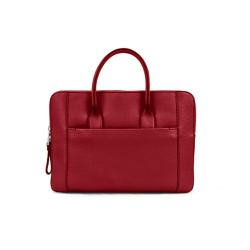 Briefcase (13 inch) - Amaranto - Granulated Leather
