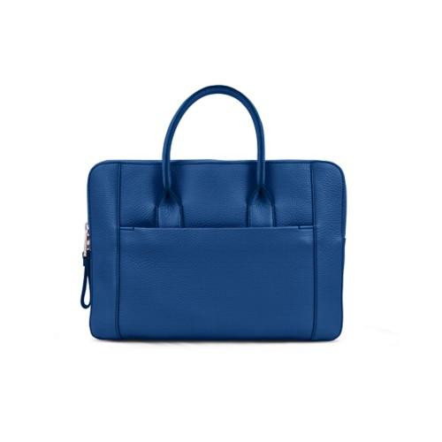 Briefcase (13 inch) - Royal Blue - Granulated Leather