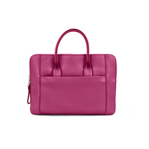 Briefcase (13 inch) - Fuchsia  - Granulated Leather
