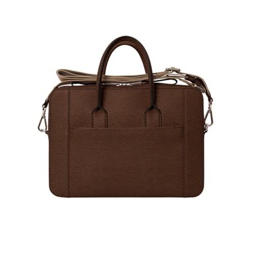 Briefcase (13 inch) - Dark Brown - Granulated Leather