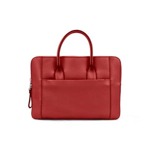 Briefcase (13 inch) - Red - Granulated Leather