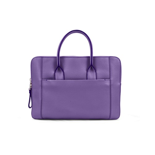 Briefcase (13 inch) - Lavender - Granulated Leather