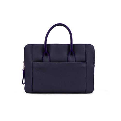 Briefcase (13 inch) - Purple - Granulated Leather