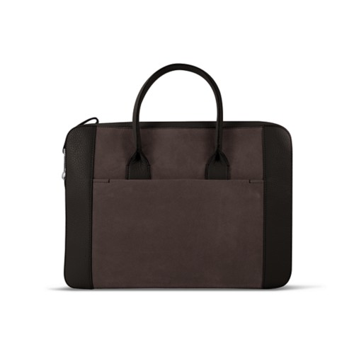 Briefcase (13 inch) - Dark Brown - Suede Calf