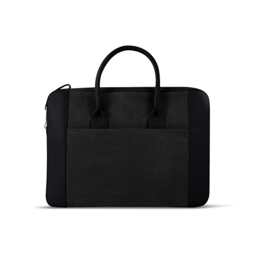 Briefcase (13 inch) - Black - Suede Calf
