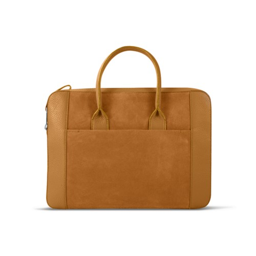 Briefcase (13 inch) - Natural - Suede Calf