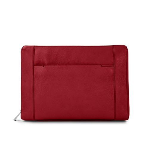 "Document case 13"" - Amaranto - Granulated Leather"
