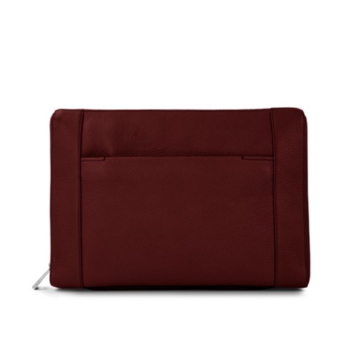 "Document case 13"" - Burgundy - Granulated Leather"
