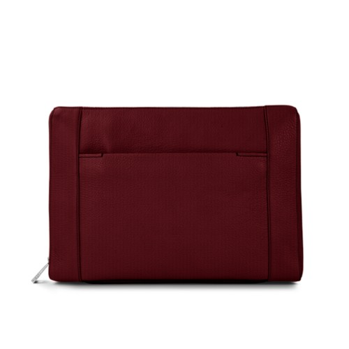 Document case 13 inches - Burgundy - Granulated Leather