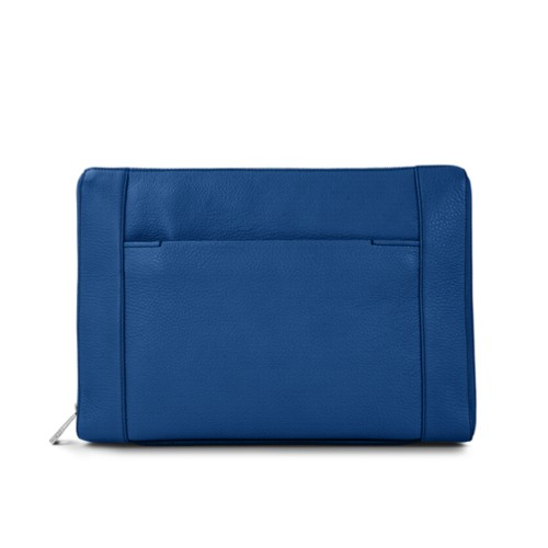 Document case 13 inches - Royal Blue - Granulated Leather