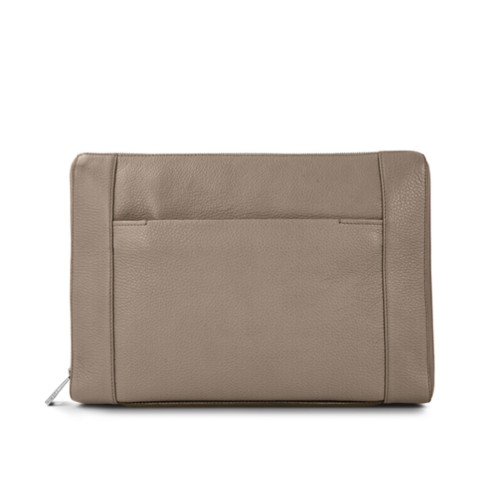 Document case 13 inches - Mink - Granulated Leather