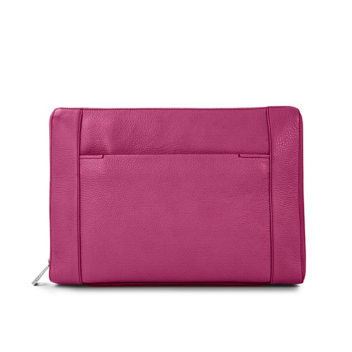 Document case 13 inches - Fuchsia  - Granulated Leather