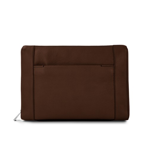 Document case 13 inches - Dark Brown - Granulated Leather