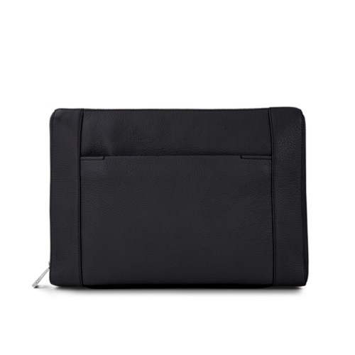 Document case 13 inches - Black - Granulated Leather
