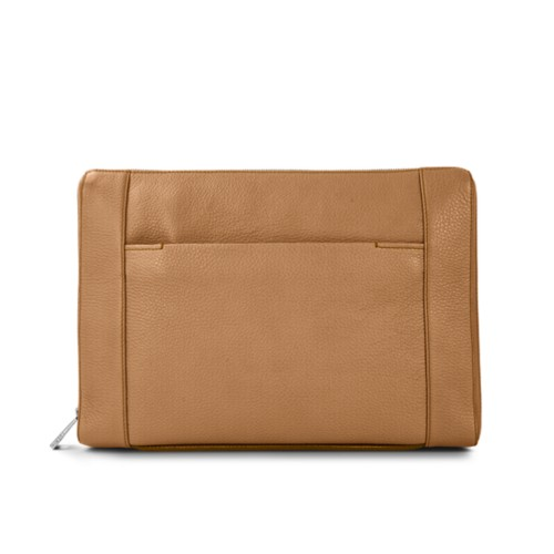 Document case 13 inches - Natural - Granulated Leather