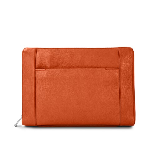 Document case 13 inches - Orange - Granulated Leather