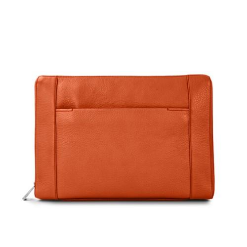 Documentenmap 13 inch - Oranje - Korrelig Leer