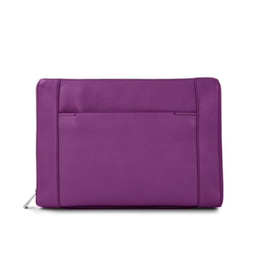 "Document case 13"" - Purple - Granulated Leather"