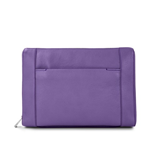 Document case 13 inches - Lavender - Granulated Leather