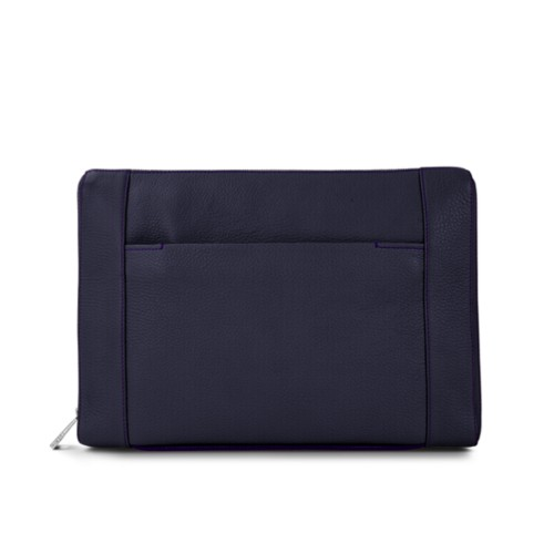 Document case 13 inches - Purple - Granulated Leather