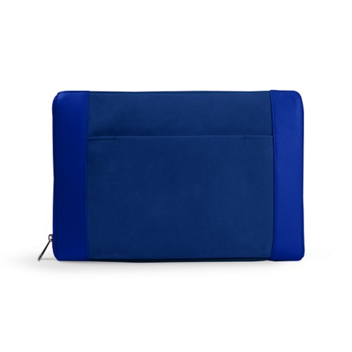 Document case 13 inches - Royal Blue - Suede Calf