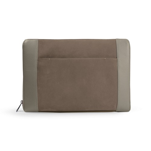 Document case 13 inches - Mink - Suede Calf