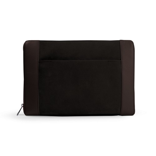 Document case 13 inches - Dark Brown - Suede Calf