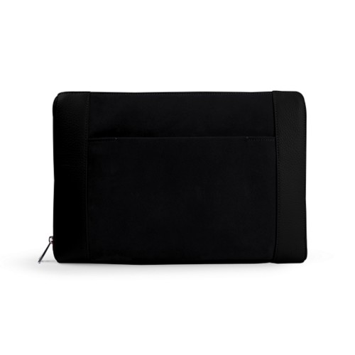 Document case 13 inches - Black - Suede Calf