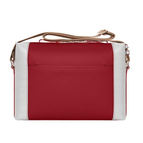 Messenger - Amaranto-White - Granulated Leather