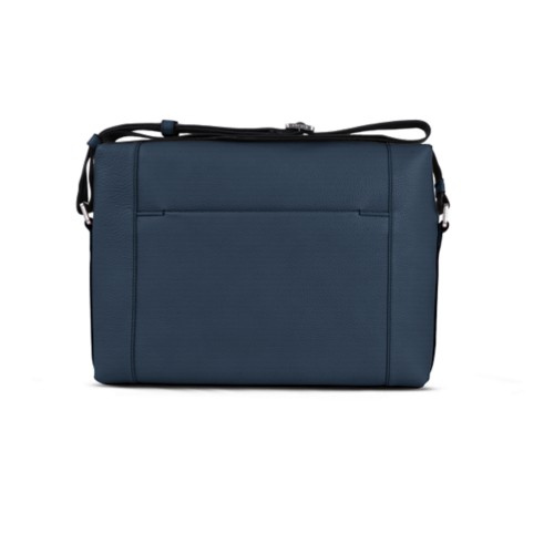 Messenger - Navy Blue - Granulated Leather