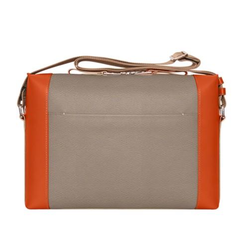 Messenger - Mink-Orange - Granulated Leather