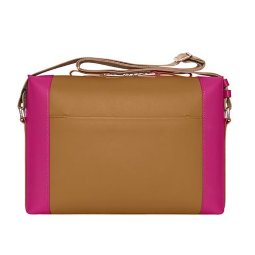 Messenger - Flake-Fuchsia - Granulated Leather