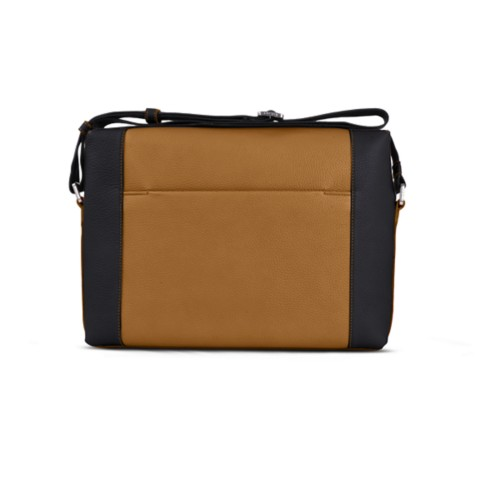 Messenger - Flake-Black - Granulated Leather