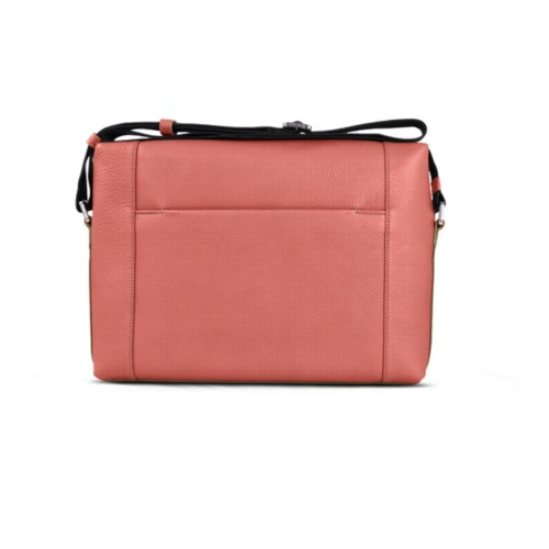Messenger - Coral - Granulated Leather