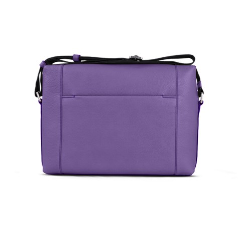 Messenger - Lavender - Granulated Leather