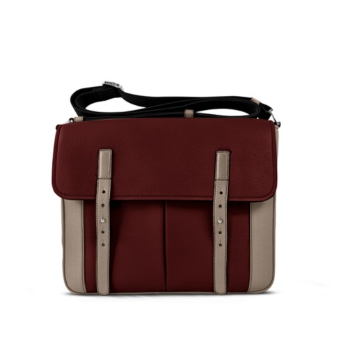 Courrier Bag - White-Mink - Granulated Leather