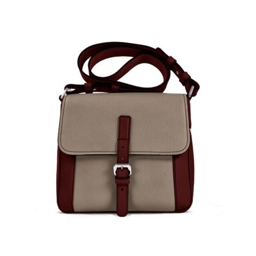 Crossbody - White-Mink - Granulated Leather