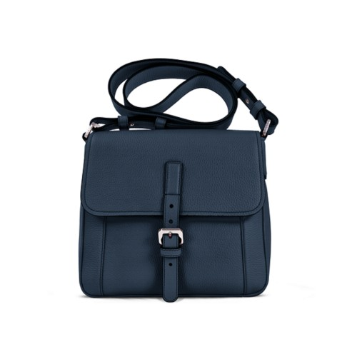Crossbody - Navy Blue - Granulated Leather