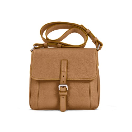 Crossbody - Natural - Granulated Leather