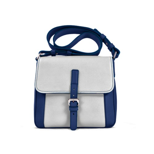 Crossbody - Submarine-White - Granulated Leather