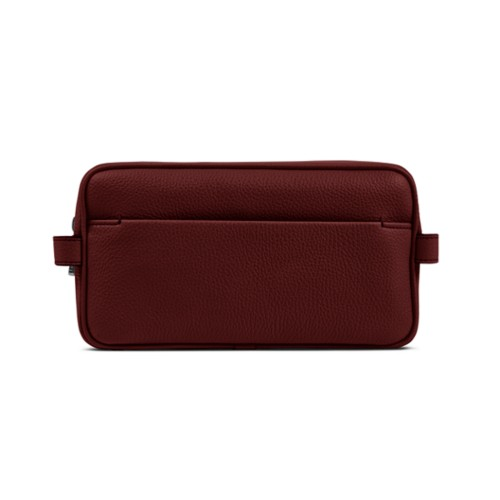 Toiletry - Burgundy - Granulated Leather